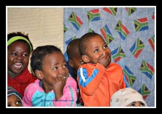 Smiling at childrens magic