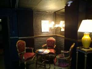 Seating area next to bar at Cape Town Magic Club