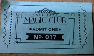 Ticket Cape Town Magic Club