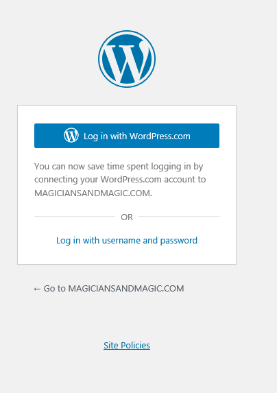 login with wordpress